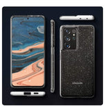 SAMSUNG GALAXY S21 ULTRA PREMIUM SLIM LIQUID CRYSTAL GLITTER CASE CLEAR | SPIGEN