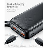 BASEUS 20000mAh QUICK CHARGE 3.0 + 18W TYPE-C PD FAST CHARGE POWERBANK BLACK