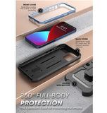 IPHONE 12 PRO FULL BODY RUGGED PROTECTIVE CASE WITH SCREEN PROTECTOR CERULEAN | SUPCASE