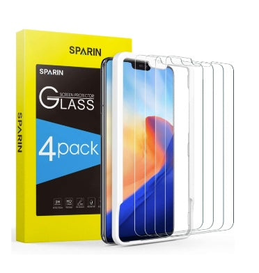ONEPLUS 6 PREMIUM TEMPERED GLASS SCREEN PROTECTOR 9H 4PK | SPARIN