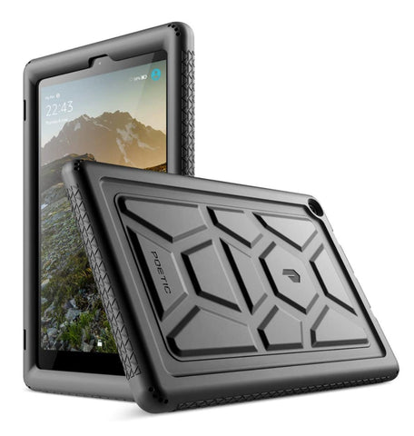 "AMAZON FIRE HD 10"" TABLET (2019) RUGGED SILICONE PROTECTIVE CASE BLACK 