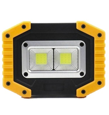 COB LED 30W USB RECHARGEABLE PORTABLE SPOT LIGHT WITH POWERBANK YELLOW
