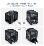 UNIVERSAL WORLD TRAVEL ADAPTER US/UK/EU/AU WITH 4PORT USB & USB-C