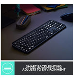 LOGITECH MX KEYS ADVANCED WIRELESS KEYBOARD GRAPHITE