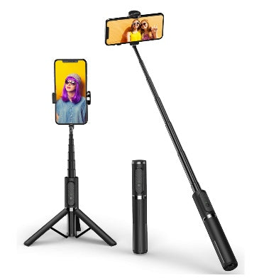 ATUMTEK TRIPOD SELFIE STICK WITH BLUETOOTH REMOTE BLACK