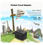 EUROPEAN 5in1/USA TRAVEL PLUG ADAPTER WITH USB PORT | TESSAN
