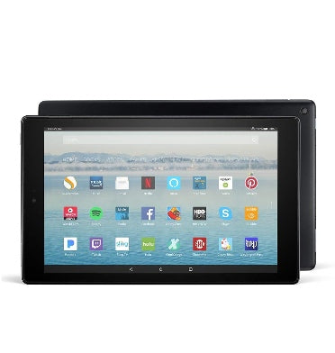 "AMAZON FIRE HD 10"" TABLET 64GB WI-FI BLACK WITH HANDSFREE ALEXA (2019)"