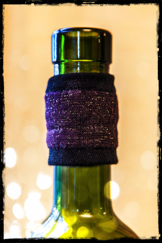 DripTeez™ Wine Bottle Drip Stopper with Purple Sparkle Band
