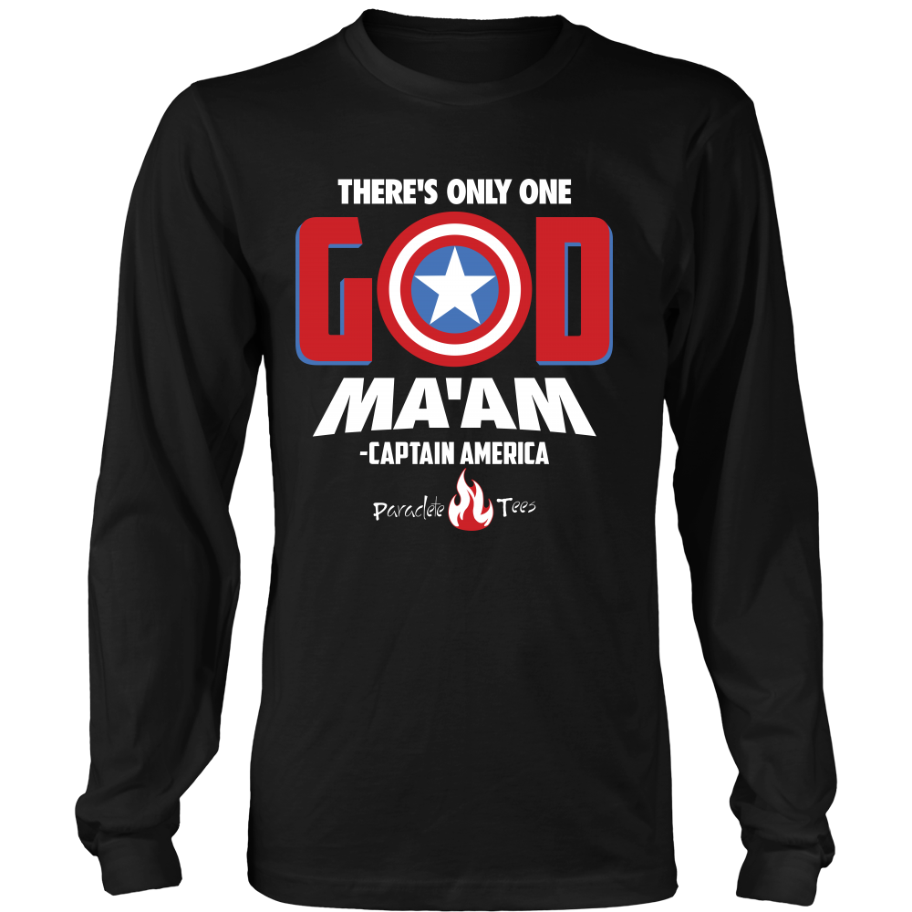 website for discount original big discount There's Only One God Long Sleeve Christian T-Shirt