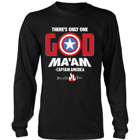 There's Only One God Long Sleeve Christian T-Shirt