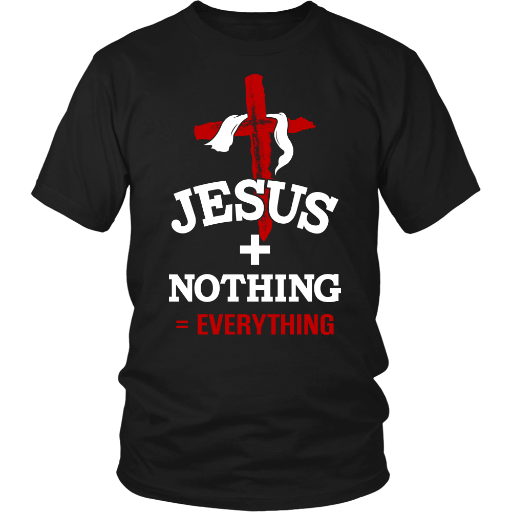 Jesus Plus Nothing Equals Everything Mens Christian T Shirt