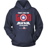 There's Only One God Ma'am Christian Hoodie (White Letters) (Multiple Colors) - Paraclete Tees  - 3