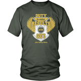 Duty is Mine; Results are God's Christian T-Shirt (Unisex/Mens) (Gold/White) (Multiple Colors) - Paraclete Tees  - 9