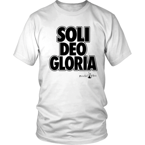 Soli Deo Gloria Christian T-Shirt (Mens/Unisex) (Black)