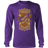 Priest, Prophet, Protector, Provider Christian Long Sleeve T-Shirt (Multiple Colors) - Paraclete Tees  - 3
