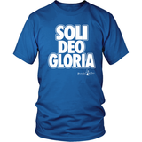 Soli Deo Gloria Christian T-Shirt (Mens/Unisex) (Multiple Colors) - Paraclete Tees  - 1