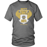 Duty is Mine; Results are God's Christian T-Shirt (Unisex/Mens) (Gold/White) (Multiple Colors) - Paraclete Tees  - 8