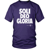 Soli Deo Gloria Christian T-Shirt (Mens/Unisex) (Multiple Colors) - Paraclete Tees  - 3