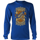 Priest, Prophet, Protector, Provider Christian Long Sleeve T-Shirt (Multiple Colors) - Paraclete Tees  - 1