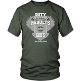 Duty is Mine; Results are God's Christian T-Shirt (Unisex) (Silver/White) (Multiple Colors) - Paraclete Tees  - 9