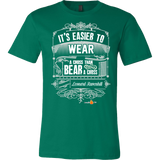 Its Easier to Wear a Cross Christian T-Shirt (Mens/Unisex) (Multiple Colors) - Paraclete Tees  - 5