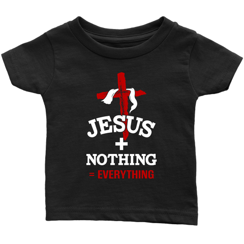 Jesus Plus Nothing Equals Everything Children's Christian T Shirt