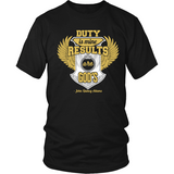 Duty is Mine; Results are God's Christian T-Shirt (Unisex/Mens) (Gold/White) (Multiple Colors) - Paraclete Tees  - 7