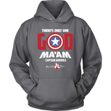 There's Only One God Ma'am Christian Hoodie (White Letters) (Multiple Colors) - Paraclete Tees  - 2