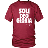 Soli Deo Gloria Christian T-Shirt (Mens/Unisex) (Multiple Colors) - Paraclete Tees  - 2