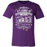 Its Easier to Wear a Cross Christian T-Shirt (Mens/Unisex) (Multiple Colors) - Paraclete Tees  - 3