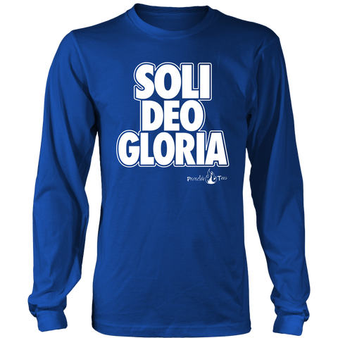 Soli Deo Gloria Christian T-Shirt Long Sleeve (Mens/Unisex) (Multiple Colors)
