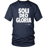 Soli Deo Gloria Christian T-Shirt (Mens/Unisex) (Multiple Colors) - Paraclete Tees  - 4