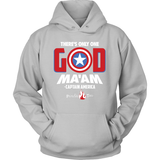 There's Only One God Ma'am Christian Hoodie (White Letters) (Multiple Colors) - Paraclete Tees  - 4