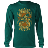 Priest, Prophet, Protector, Provider Christian Long Sleeve T-Shirt (Multiple Colors) - Paraclete Tees  - 5