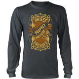 Priest, Prophet, Protector, Provider Christian Long Sleeve T-Shirt (Multiple Colors) - Paraclete Tees  - 6