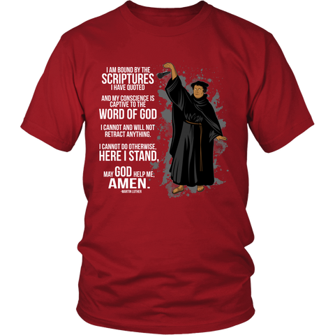 Martin Luther Mic Drop Christian T-Shirt (Mens/Unisex) (Multiple Colors)