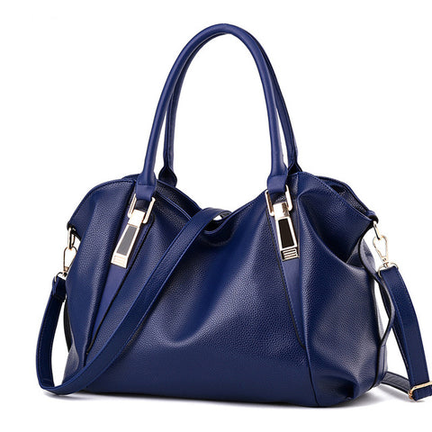 Faux Leather Hobo Handbag