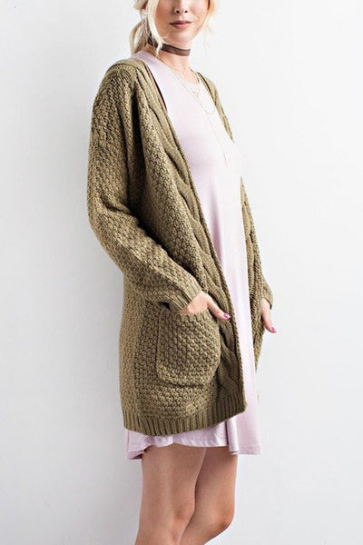 Long Cardigan Knitted Sweater