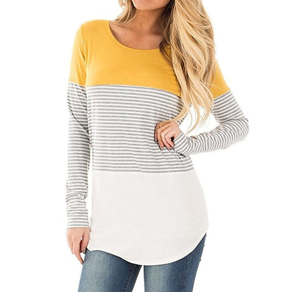 Striped Long Sleeve Spring Top