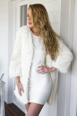 Shaggy Faux Fur Cardigan