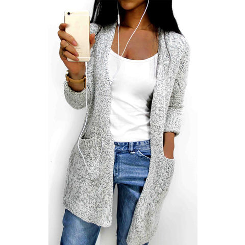 Long Sleeve Cardigan with Pockets