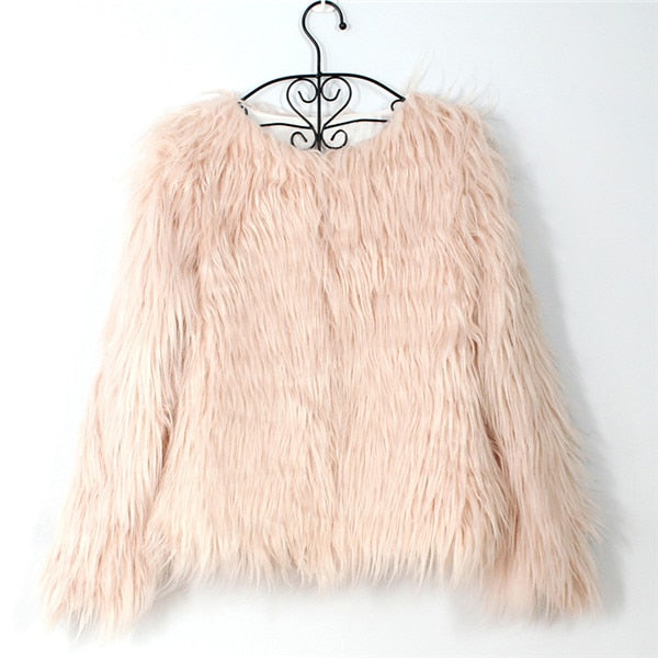 Shaggy Chic Faux Fur Coat