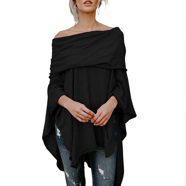 Off Shoulder Irregular Loose Fit Top