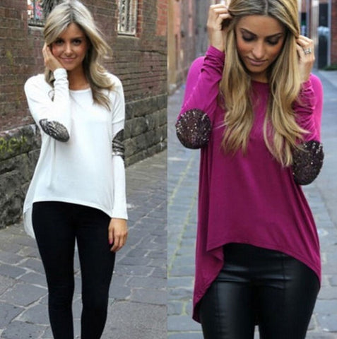 Long Sleeve Patchwork Top