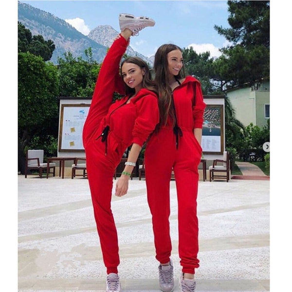 Long Sleeve Zipper Jumpsuit