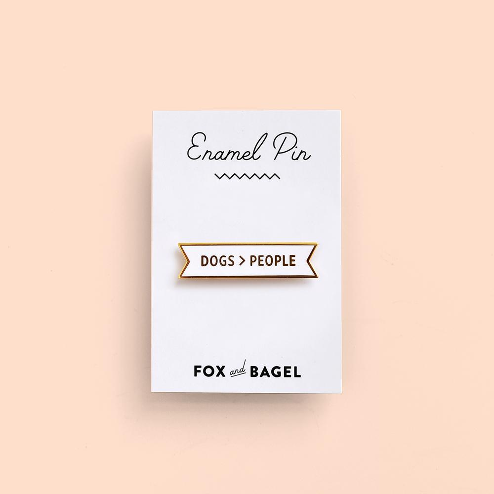 Fox & Bagel Pin
