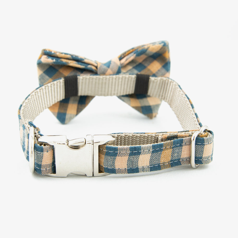 Bow Tie Dog collar plaid