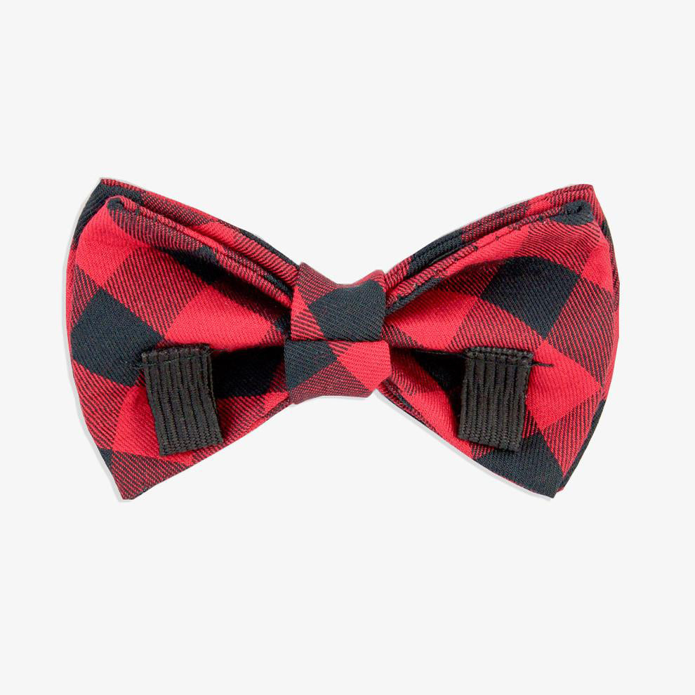 buffalo check dog bow tie