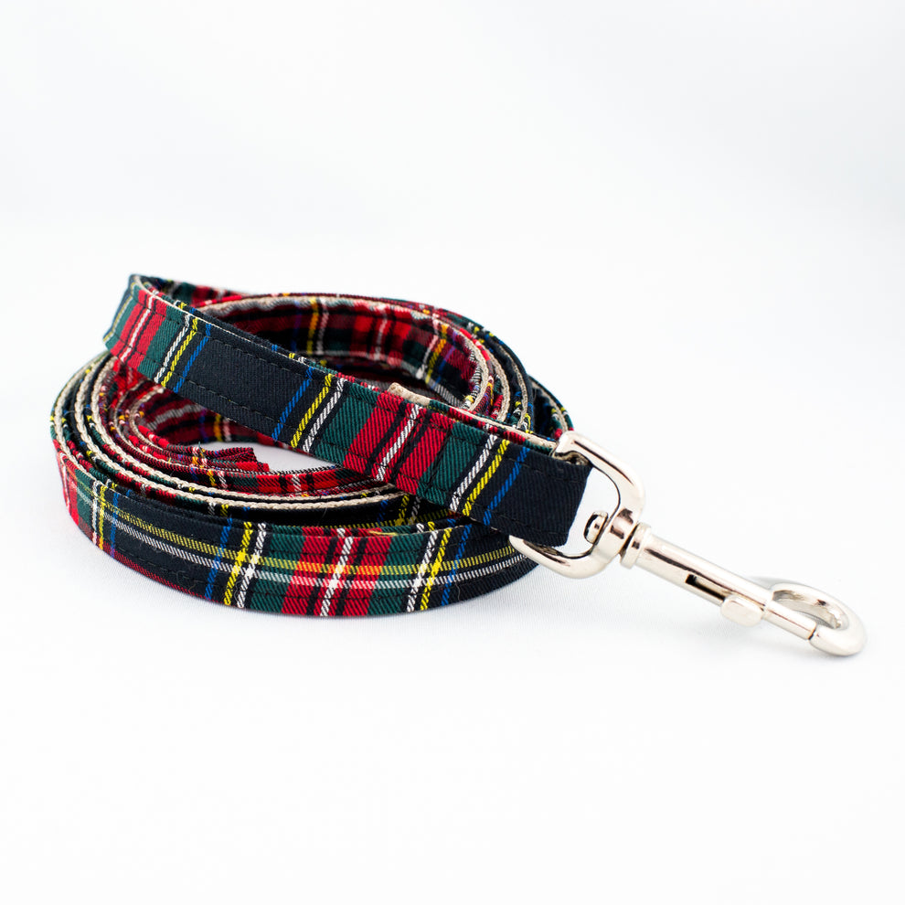 Dog Leash Black Tartan