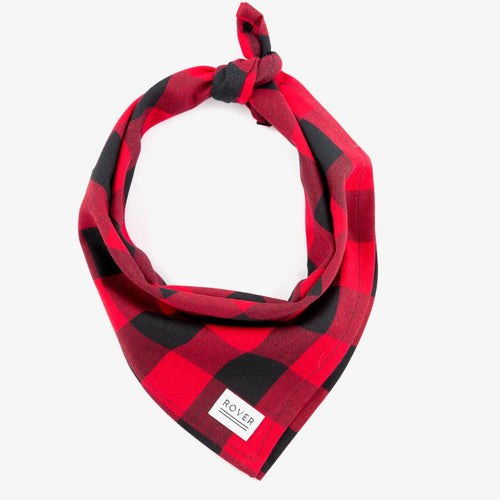 red check dog bandana